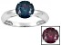 1.62ctw 7mm Round Blue Alexandrite Solid 14kt White Gold Solitaire Ring