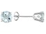 Aquamarine 14k White Gold Post Stud Earrings 1.50ctw