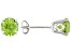 2.04ctw 6mm Round Green Peridot 14kt White Gold Stud Post Earrings