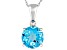 Womens 2.39ctw 8mm Round Blue Topaz Solid 14kt White Gold Solitaire Pendant