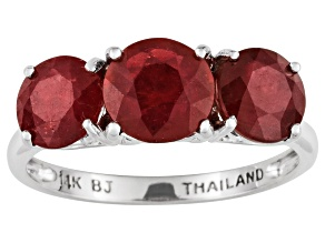 Mahaleo Ruby 14k White Gold Ring 4.60ctw