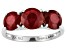 Red Mahaleo® Ruby 14k White Gold Ring 4.60ctw