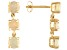 1.56ctw Round Ethiopian Opal 14k Yellow Gold 3-Stone Dangle Earrings