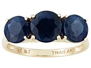 Blue Sapphire 14k Yellow Gold Ring 4.26ctw