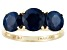 Blue Sapphire 14k Yellow Gold Ring 4.26ctw