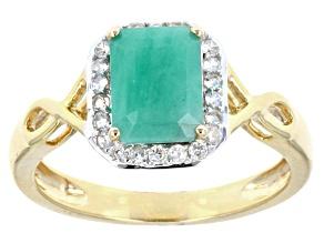Green Brazilian Emerald 10k Yellow Gold Ring 1.72ctw.