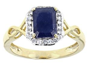 Blue Sapphire 10k Yellow Gold Ring 1.92ctw.