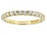 White Zircon 10k Yellow Gold Band Ring .64ctw.