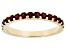 Red Garnet 10k Yellow Gold Band Ring .67ctw.