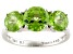 Green Peridot 14k White Gold Ring 3.46ctw.