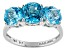 Swiss Blue Topaz 14k White Gold Ring 3.84ctw.