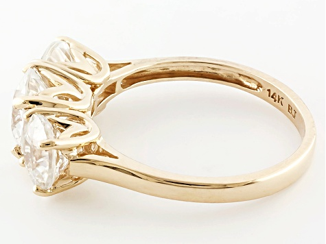 White Zircon 14k Yellow Gold Ring 3.50ctw.