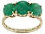 Green Brazilian Emerald 14k Yellow Gold Ring 2.03ctw.