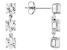 White Zircon 14k White Gold 3-Stone Earrings 4.50ctw.