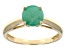 Green Brazilian Emerald 14k Yellow Gold Ring 1.17ctw.