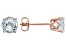 Blue Aquamarine 14k Rose Gold Stud Earrings 1.20ctw.