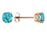 Swiss Blue Topaz 14k Rose Gold Stud Earrings 1.71ctw.
