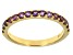 Orchid Amethyst 10k Yellow Gold Band Ring .54ctw