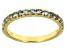 Blue Brazilian Aquamarine10k Yellow Gold Band Ring .48ctw
