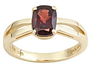 Red Garnet 14k Yellow Gold Ring 1.68ct.
