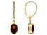 Red Garnet 14k Yellow Gold Earrings 2.36ctw.