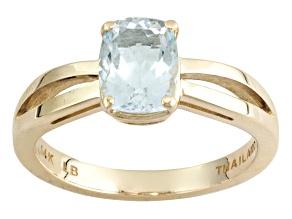 Blue Aquamarine 14k Yellow Gold Ring 1.09ct.