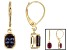 Color Change Lab Created Alexandrite 14k Yellow Gold Earrings 2.10ctw.