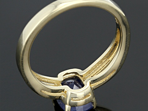 Blue Sapphire 14k Yellow Gold Ring 1.74ct.