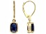 Blue Sapphire 14k Yellow Gold Earrings 2.83ctw.