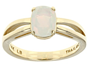 Ethiopian Opal 14k Yellow Gold Ring .77ct.