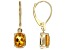 Yellow Madiera Citrine 14k Yellow Gold Earrings 1.60ctw.