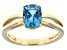 Swiss Blue Topaz 14k Yellow Gold Ring 1.75ct.