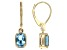 Swiss Blue Topaz 14k Yellow Gold Earrings 2.04ctw.