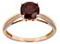 Red Garnet 14k Rose Gold Ring 1.46ct.