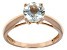 Blue Aquamarine 14k Rose Gold Ring 1.05ct.
