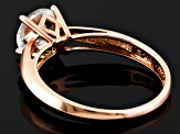 White Zircon Solitaire 14k Rose Gold Ring 1.92ct.