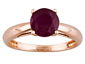 Red Mahaleo®  Ruby 14k Rose Gold Ring 2.09ct.