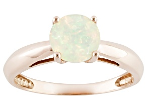 Multi Color Ethiopian Opal 14k Rose Gold Ring .86ct.