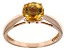 Yellow Citrine 14k Rose Gold Ring 1.13ct.