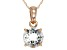 Blue Aquamarine 14k Rose Gold Pendant With Chain 1.25ct.