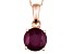 Mahaleo ® Ruby 14k Rose Gold Pendant With Chain 3.18ct.