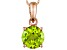 Green Peridot 14k Rose Gold Pendant With Chain 2.07ct.