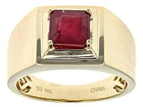 Mahaleo Ruby 14k Yellow Gold Gent's Ring 2.15ct.