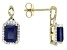 Blue Sapphire 10k Yellow Gold Earrings 2.44ctw.