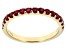 Red Mahaleo® Ruby 10k Yellow Gold Ring .79ctw