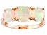 Ethiopian Opal 14k Rose Gold Ring 1.80ctw