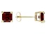 Red Garnet 14k Yellow Gold Stud Earrings 2.21ctw