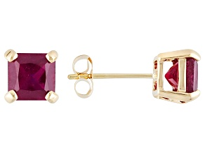 Mahaleo® Ruby 14k Yellow Gold Stud Earrings 2.19ctw