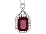 Mahaleo Ruby 10k White Gold Pendant With Chain 2.31ctw