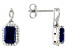 Blue Sapphire 10k White Gold Earrings 3.10ctw